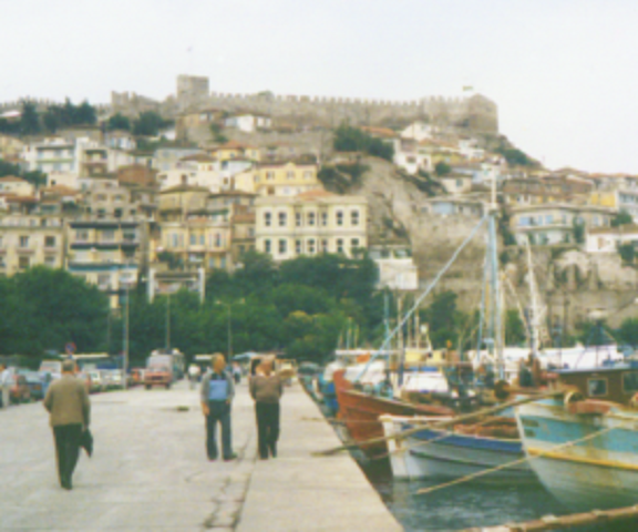 Castle at Kavala, view from the harbour
