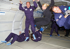 """Oh there goes gravity""  (jurvetson) Tags: flight floating cargo parabolic zerog eminem weightless vomitcomet whichwayisup nogravity northropgrumman amerijet volparabolique spacetourismpractice ultimateplaygroundride"