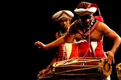 Native Singhalese Drummer (jkoshi) Tags: travel drums drum srilanka drumming vacation2005 colombo womad koshi jkoshi drummingfestival
