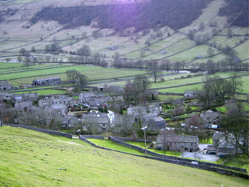 Buckden at the valley bottom
