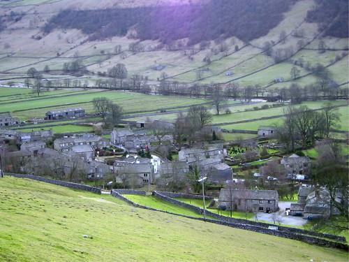Buckden at the valley bottom