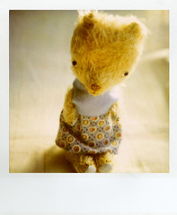 16137 (+yooco+) Tags: bear stuffedtoy animal toy polaroid sx70 stuffed teddy handmade bears plush teddybear stuffedanimal handsewn etsy artistbear