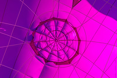 Balloon Fiesta 2016 | Envelope Abstract |  Morning-Ascension, 8:34AM (Facundity) Tags: abstract pink hotairballoon aibf albuquerqueinternationalballoonfiesta balloonfiesta2016 lines curves naturallight outdoors digitalphotography albuquerque newmexico ef70200f4lisusm grid pattern circle shapes lim007 canon5dmkiv