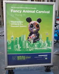 Fancy Animal Carnival Poster, Garment District, New York City (jag9889) Tags: installation jag9889 usa garmentdistrict artwork manhattan pandas publicart broadway newyork outdoor 2016 text skyline animal culture poster artist granite art hungyi midtown contemporary newyorkcity carnival enamel colorful steel 20161128 sculpture taiwan costumes creature fasnacht festival masks ny nyc plakat skulptur streetart unitedstates unitedstatesofamerica us