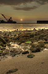 Industrial Sunset (DanielKHC) Tags: sunset sea sun intere