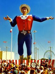 Big Tex, Texas State Fair, Dallas (StevenM_61) Tags: dallas cowboy texas unitedstates fair 1999 exposition texasstatefair clearsky bigtex statefairoftexas fairpark flickrbestpics