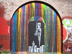 umbrella (rick) Tags: sanfrancisco color brick art colors wall skyline graffiti mural 2007