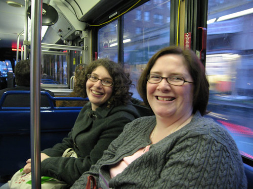 Jenna and Suzanne on the bus