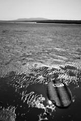 DSC_0051 (Travis Schuldt) Tags: blackandwhite beach water monochrome sport washington seaside sand outdoor pacificnorthwest pnw skimboarding bnw skimboard skimming
