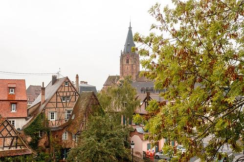 Vue sur Wissembourg depuis les remparts