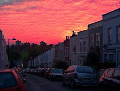 Red Sky in Totterdown Bristol 11.10.15 (Bristol_Nicolarrgh) Tags: red bristol totterdown