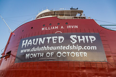 Duluth Haunted Ship - William A. Irvin (Tony Webster) Tags: halloween minnesota boat october ship unitedstates haunted mn duluth lakesuperior irvin october31 decc hauntedship williamairvin sswilliamairvin visitduluth 301harbordrive duluthhauntedship
