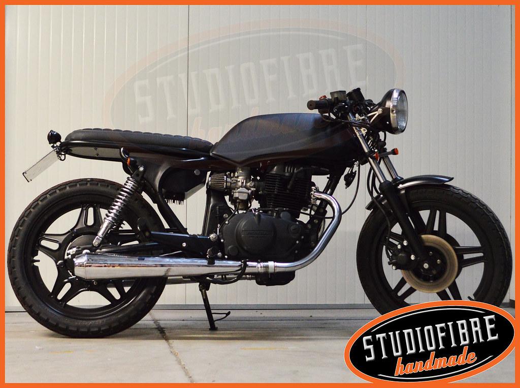 Honda CB400 BlackHole FLM Diffusion Tags Handmade Cb Custom Caferacer Scrambler Cb400 Studiofibre