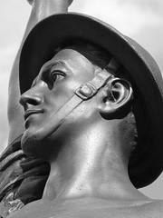 Noble and Brave (e r j k . a m e r j k a) Tags: sculpture statue memorial pennsylvania profile explore worldwari tribute bellevue allegheny doughboy i79pa baynepark pa65 giuseppimoretti erjkprunczyk