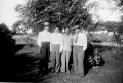Bob Boswell, Dean Hite, Clarence and Dad (Homer Hite) - 1951 (ataribravo1) Tags: bw robert senior roy dean husband gordon lee homer ina sr clarence 1951 boswell hite
