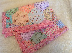 Hexagon blanket (patchwork and lace) Tags: fabric quilts patchwork throw cathkidston shabbychic patchyblanket patchworkandlacevintage handmadebuntingsquiltspatchworkpatchworkandlacehandmadecathkidstonshabbychicvintage