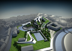 aerial_3 (Levente Gyulai architectural designer's works) Tags: architecture parametric generative urbanism render cg cgi art 3d visualization c4dtoa c4d modeling image night daylight city concept urban planning design structure form building