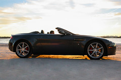 One of my faves from the Aston Martin shoot. (PriscillaDPhoto) Tags: colors skyline sunrise canon florida perspective clearwaterbeach astonmartin carphotography luxurycar floridasunrise 50mmlens floridaphotographer