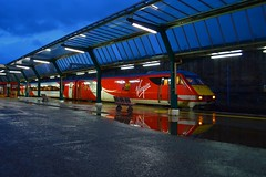 Virgin Reflections at Carlisle (houndog1372) Tags: trains virgin carlisle eastcoast dvt class91 diverts intercity225 virgintrainseastcoast