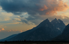 Grand Teton National Park, Wyoming (ardakoyuncu) Tags: nature outdoors greatoutdoors roadtrip canon canon6d 6d wyoming tetons grandtetons grand teton national park mountains snowcapped clouds vibrant sunset