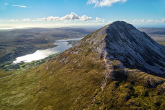 Mt Errigal & Dunlewey Lough (Gareth Wray - 9 Million Views - Thank You) Tags: bunbeg gweedore dji poisoned glen mt mount mountain errigal dunlewey church foot phantom three 3 drone aerial quadcopter landscape seascape monument landmark famous tourist attraction tourism tourists historic history visit donegal ireland irish scenic gareth wray photography strabane nikon sun atlantic magheraclogher day vacation 2016 derrybeg sunset gaeltacht lake lough