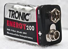 Macro Mondays Corner - Wonky 9V Battery (STOLPILOT) Tags: macro mondays corner battery lidl tronic deformed melted overheat heat damaged broken dangerous 9v nine volt