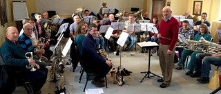 "Rehearsing with ""perennial"" guest John Hudson"