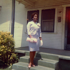 Me (~ Lone Wadi ~) Tags: africanamerican frontporch house residence retro 1960s lostphoto blackwoman beauty