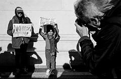 Donald Trump Protest - Manhattan - November 2016 (A Screaming Comes Across the Sky) Tags: nikon nikkor 35mm ai film analog analogue emulsion black white bw street nyc new york city manhattan trix 400 kodak blackandwhite monochrome road protest people crowd outdoor f28