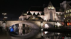 Gand, les canaux la nuit (Lцdо\/іс) Tags: gand gent belgique belgium belgie nuit night nightcity citytrip city ville voyage holiday