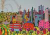 Uluslararası Naif Tel Aviv Sanat lunapark dönme dolap atlıkarınca lunapark tampon araba eğlence parkı slaytlar naif resim (iloveart106) Tags: naive painting tel aviv amusement park ferris wheel carousel bumper cars slides international naïve art uluslararası naif sanat lunapark dönme dolap atlıkarınca tampon araba eğlence parkı slaytlar resim