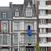 Vive l'Europe! (Antropoturista) Tags: belgium liège luik lüttich flag eu fassaden façade architecture blue
