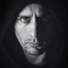 GrandJr (GrandJr) Tags: grandjr blackandwhite nikon d700 85mm 18 face studio portrait eyes dof light fx sith darth hooded