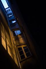 Lights (Julien Stalder) Tags: lausanne street light shadow windows blue orange perspective leica summicron