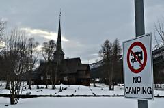 No Camping (KvikneFoto) Tags: kvikne kirke church hedmark norge 1654 2017 vinter winter snø snow nikon