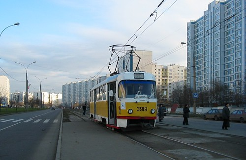 Moscow tram Tatra T3SU 3919
