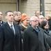 Varga Mihály nemzetgazdasági miniszter és Bagdy Gábor főpolgármester-helyettes, a KDNP fővárosi elnöke a KDNP fővárosi és II. kerületi szervezetének a kommunizmus áldozatai emléknapja alkalmából tartott megemlékezésen a Gyorskocsi utcai emléktáblánál