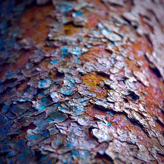 Abstract (StephenReed) Tags: abstract art abstractart metal pipe rust paint chippedpaint colors nikond3300 stephenreed dof