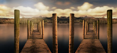 No idea what (PentlandPirate of the North) Tags: wooden jetty keswick lakedistrict derwentwater