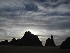 Chad Tibesti NE (ursulazrich) Tags: tschad ciad tchad chad tibesti sahara desert sky himmel clouds wolken sonnenuntergang abend sunset klima climate