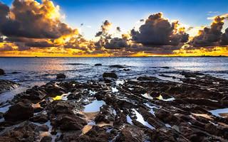 Sea rocks on Sunset