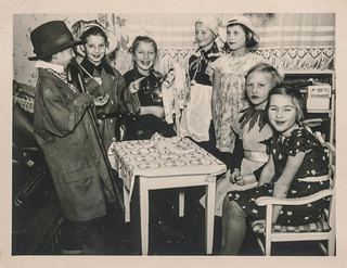 A group of children dressed in costumes