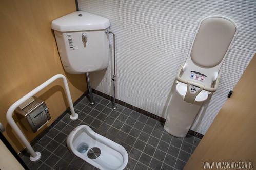 Toaleta kucana z krzesełkiem dla dziecka
