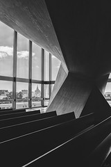 From inside (rach_photos) Tags: sf california city light white black building church lines st architecture concrete hall san francisco shadows cathedral center marys civic brutalist 500px ifttt