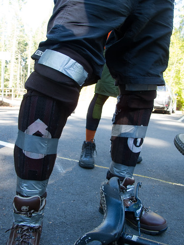 Tomas' high-tech leg armor retention system