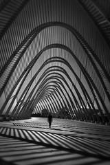 Waves of Imagination  Agora, Athens (Julia-Anna Gospodarou) Tags: blackandwhite architecture athens agora santiagocalatrava architecturalphotography photographydrawing blackandwhitefineartphotography fineartarchitecturalphotography envisionography architecturalstreetphotography