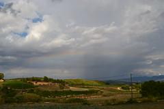 Arco iris (esta_ahi) Tags: barcelona sky españa arcoiris clouds rainbow spain cel cielo nubes núvols penedès arcdesantmartí guardioladefontrubí испания