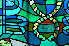 2 - Metz Eglise Saint-Maximin Vitrail, Dtail, Signatures de Jean Cocteau et de Brire (matre-verrier) (melina1965) Tags: macro church nikon churches july vitrail macros lorraine juillet glise stainedglasswindow metz moselle stainedglasswindows vitraux 2015 glises d80