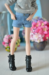 XS Denim shorts (Milk and Bunny) Tags: doll clothes denim shorts xs pure neemo azone pureneemo milkbunnyboutique