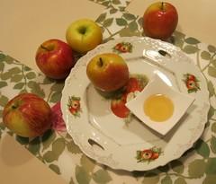 Rosh Ha Shana Colors 5776 - Apples and Honey (Pushapoze (MASA)) Tags: pommes honey miel apples miele mele roshhashana